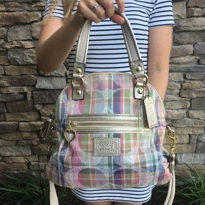 Coach Daisy Madras Foldover Crossbody Bag F23541